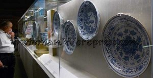 A Display Case of Chinese Blue and White