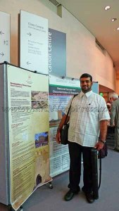 Ali Al Mahrouqi and his Poster