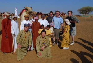 The Camel Team in Oman for the TV program