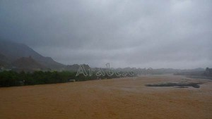 Wadi Fanja in Oman from Cyclone Phet