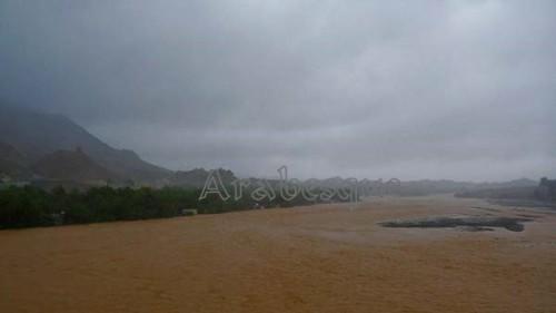 Wadi Fanja in Oman from Cyclone Phet