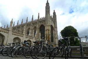 Bikes at King's College Chapel