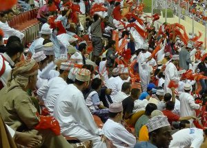 Oman v Saudi Crowd