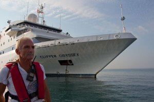 John and the Clipper Odyssey off Sir bani Yas